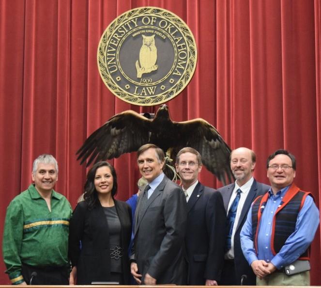 IITIO Executive with Golden Eagle from Citizen Potawatomi Nation Eagle Aviary